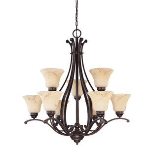 Fleur De Lis Living Neva 9-Light Shaded Chandelier