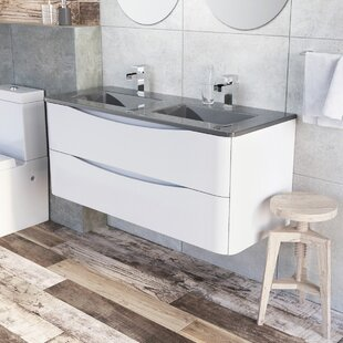 Harleigh 1200mm Wall Mounted Vanity Unit By Ebern Designs