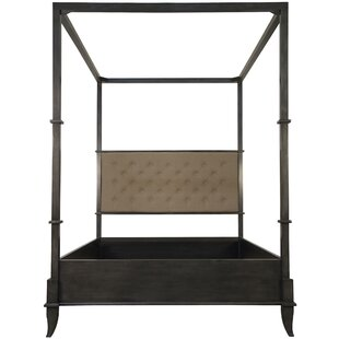 Read Reviews New London Upholstered Canopy Bed by Noir Reviews (2019) & Buyer's Guide