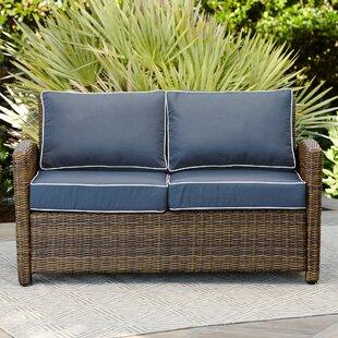 Birch Lane™ Lawson Wicker Loveseat with Cushions