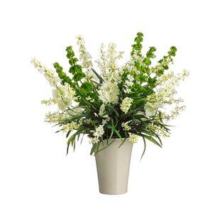 Small silk floral arrangements wayfair small mixed silk floral arrangement in glass vase mightylinksfo