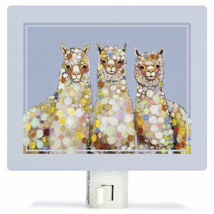 Oopsy Daisy Alpaca Trio by Eli Halpin Canvas Night Light