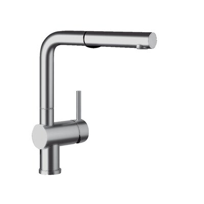 Blanco Linus Pull Out Single Handle Kitchen Faucet Color: Satin Nickel