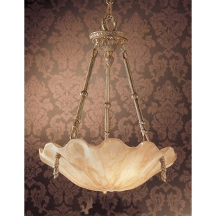Classic Lighting Atlantis 3-Light Bowl Pendant