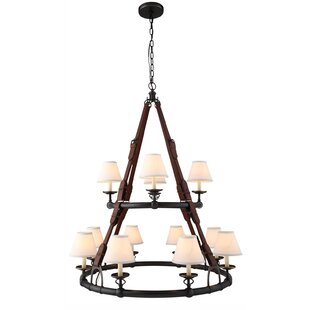 Slater 12-Light Shaded Chandelier