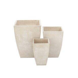 Cole & Grey 3-Piece Fiberclay Pot Planter Set