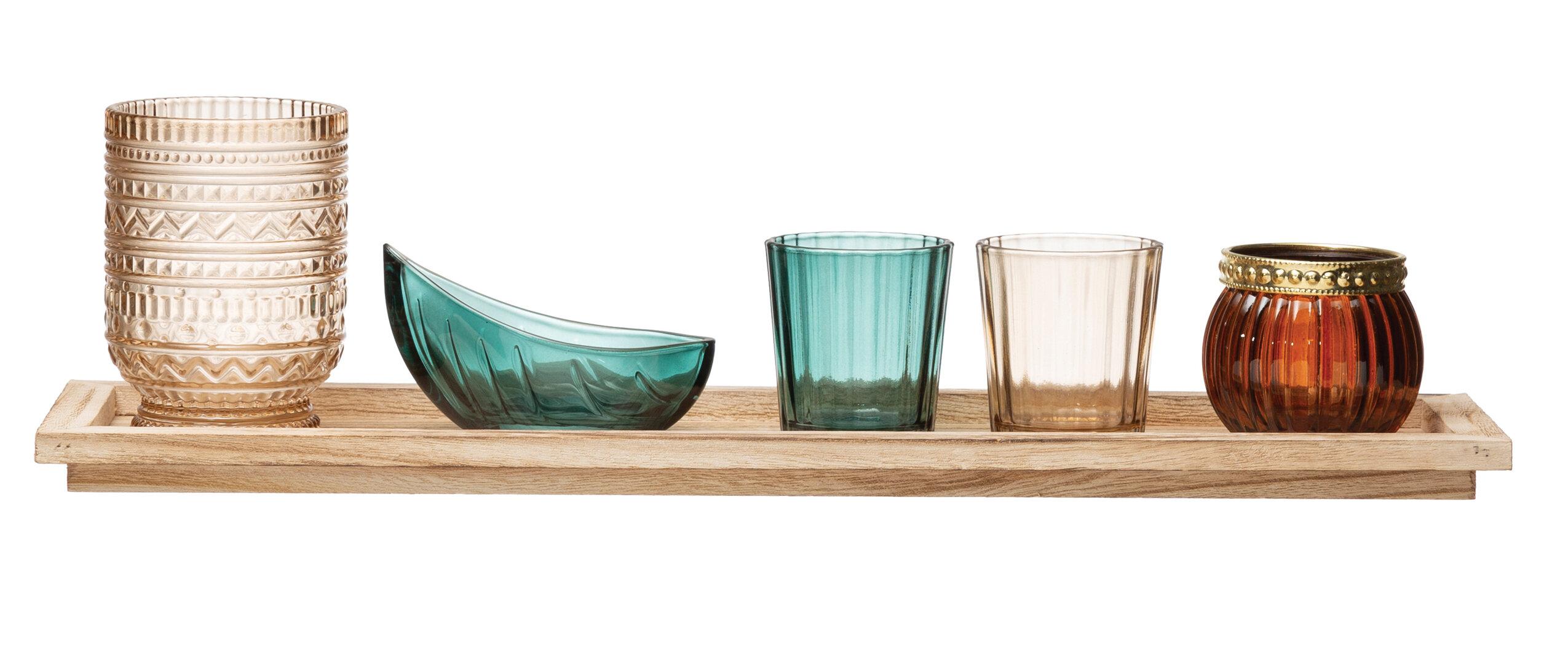 5 Piece Glass Votive Holder Set Reviews Joss Main