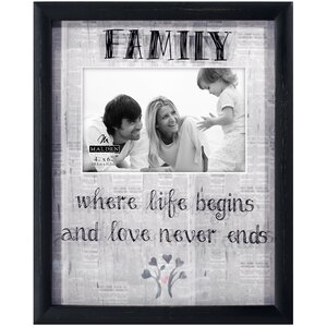 Family Newsprints Picture Frame