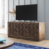 Pinnix Solid Wood TV Stand for TVs up to 75 by Bloomsbury Market