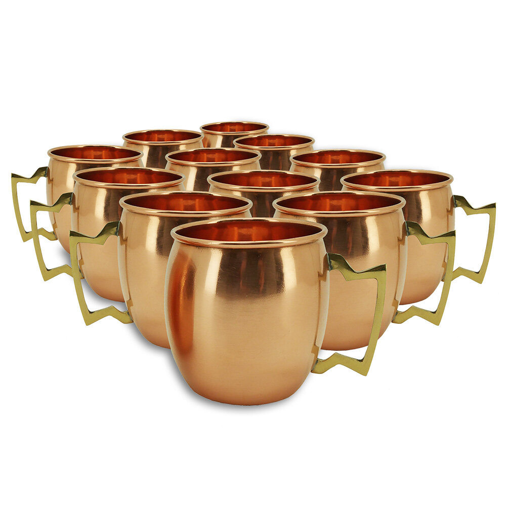 Set of 2 Copper Modern Home Authentic 100/% Solid Moscow Mule Straws