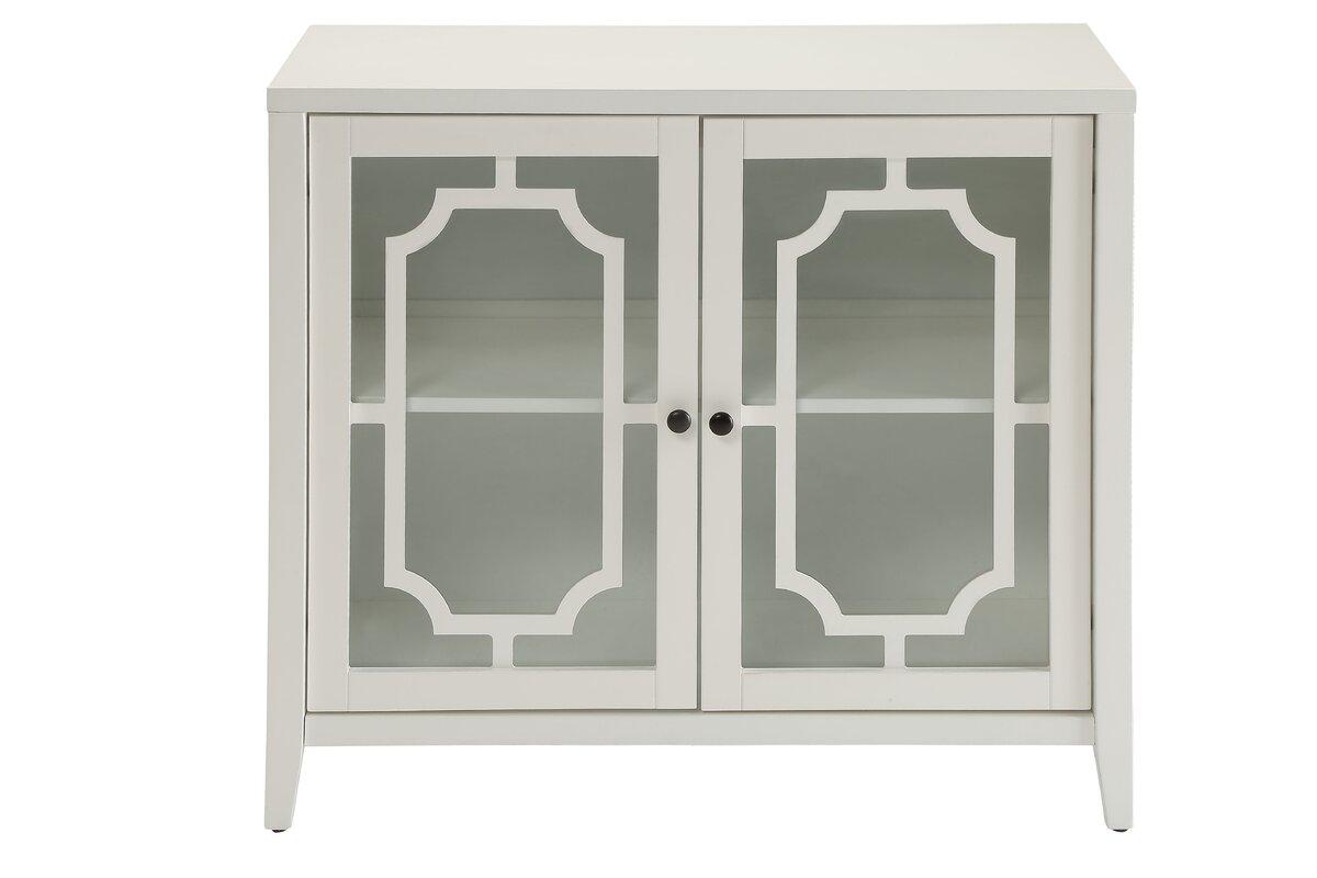 Ann mirror insert double door single drawer wooden corner cabinet - Ceara 2 Door Accent Cabinet