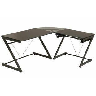 Corner L-Shape Height Adjustable Standing Desk By Symple Stuff
