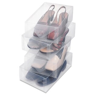 Reviews Women's Shoe Box (Set of 4) By Rebrilliant