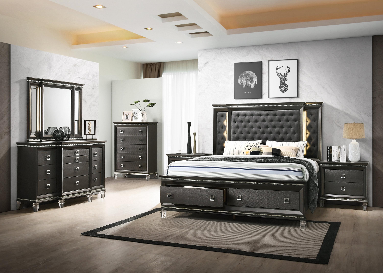 Karter Platform 5 Piece Bedroom Set