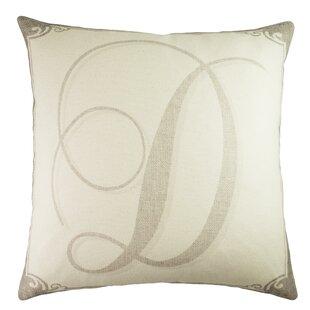 Monogram Personalized Cotton Throw Pillow