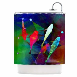 Fish Single Shower Curtain By East Urban Home