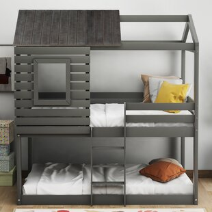 Parmenter Wood Twin over Twin Bunk Bed by Harriet Bee