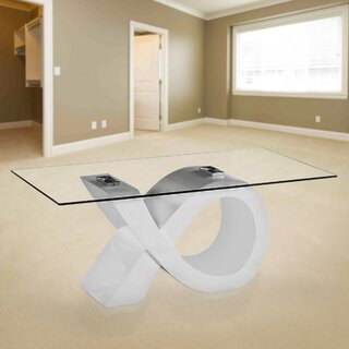 Alpha Glass Coffee Table by Orren Ellis SKU:DE800136 Shop