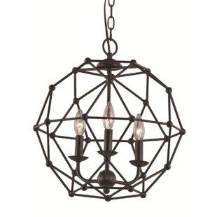 Gracie Oaks Terria 3-Light Chandelier