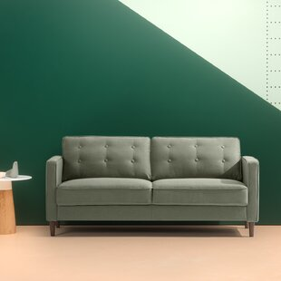 Shop Beaudin Mid Century Button Tufted Upholstered Sofa by George Oliver