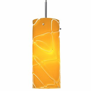 Luca 1 LED Cylinder Pendant by Bruck Lighting