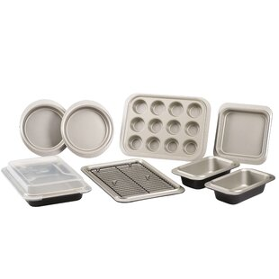 10 Piece Non-Stick Two-Tone Steel Bakeware Set