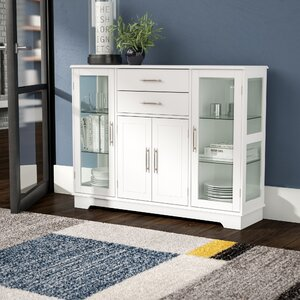 Dufferin Wood Storage 2 Drawer 4 Door Accent Cabinet