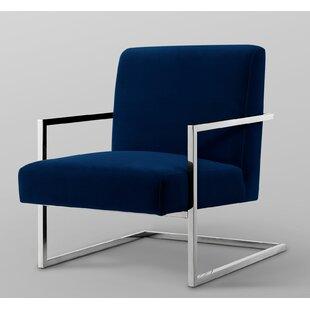 Keenan Velvet Square Armchair By Nicole Miller