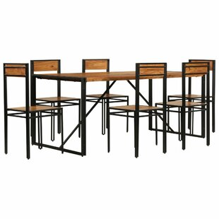Peabody Dining Set With 6 Chairs By Williston Forge