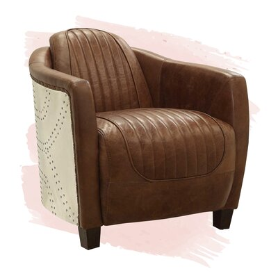 Brown Leather Accent Chairs You Ll Love In 2020 Wayfair