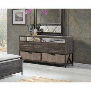Ivy Bronx Pataskala Wood 5 Drawer Double Dresser