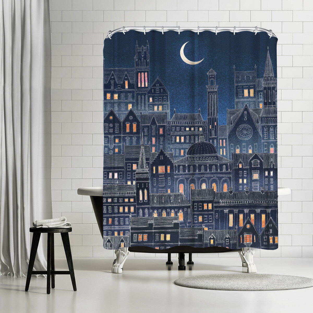 East Urban Home David Fleck Luna Single Shower Curtain Wayfair