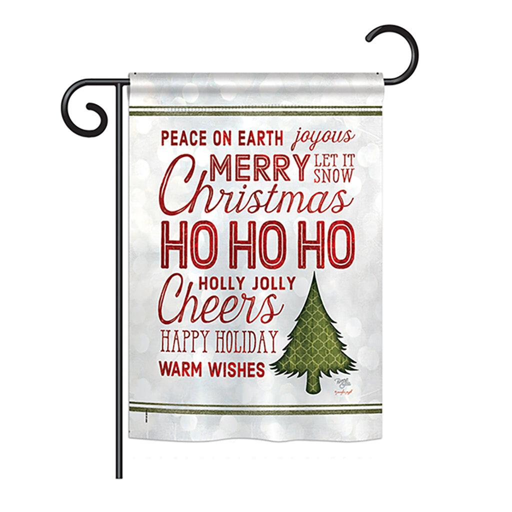 Breeze Decor Christmas Wishes Words Winter Seasonal Impressions 2 Sided 19 X 13 In Garden Flag Wayfair