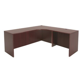 Linh Right Credenza L-Shape Shell Corner Desk by Latitude Run New
