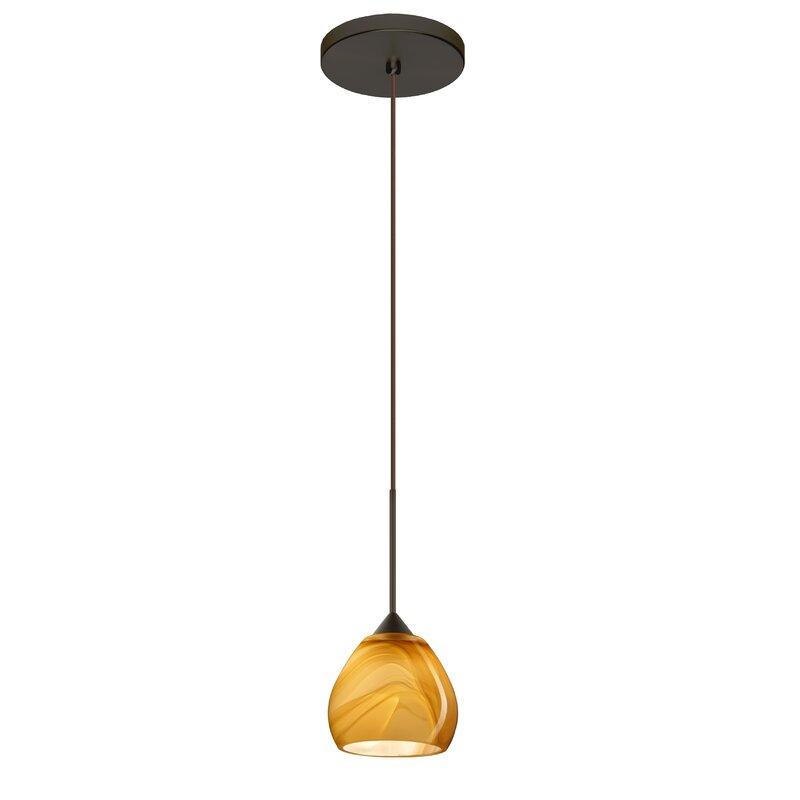 Ebern Designs Muehlebach 1 Light Single Dome Pendant Wayfair