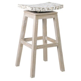 August Grove White Seat Bar Stools