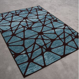 Read Reviews Midkiff Modern Blue/Black Area Rug By Orren Ellis