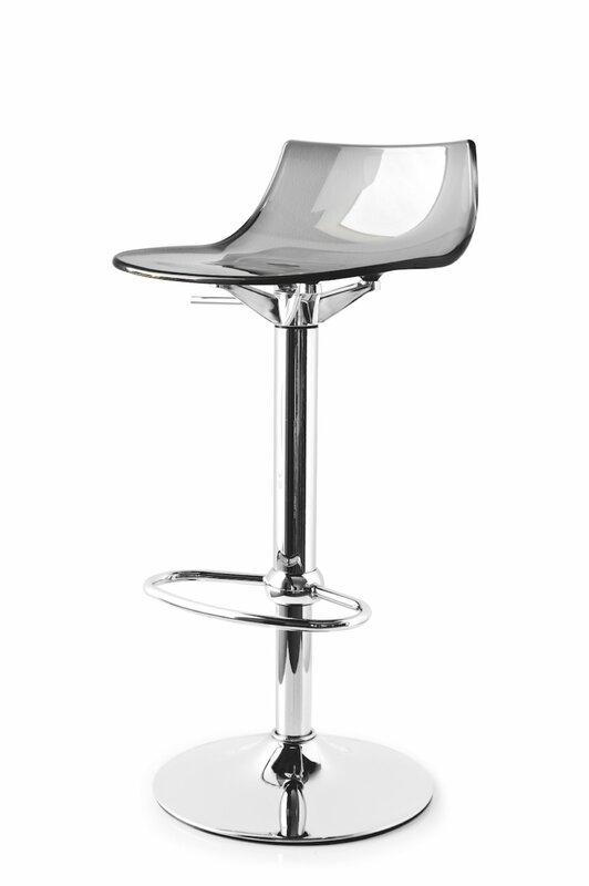 Led Adjustable Height Swivel Bar Stool