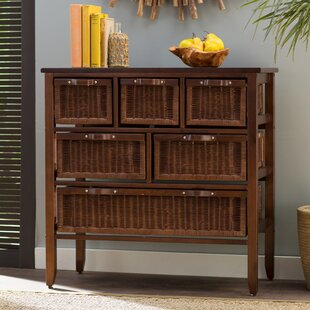 Jetta Rattan 6 Drawer Accent Chest by Beachcrest Home