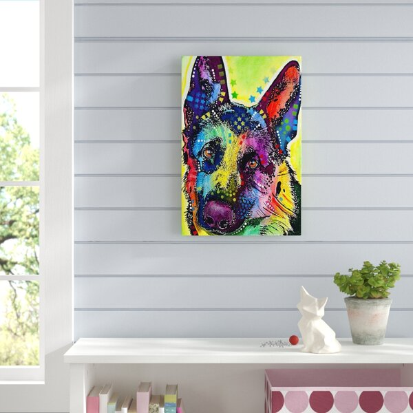 German shepherd wall art wayfair