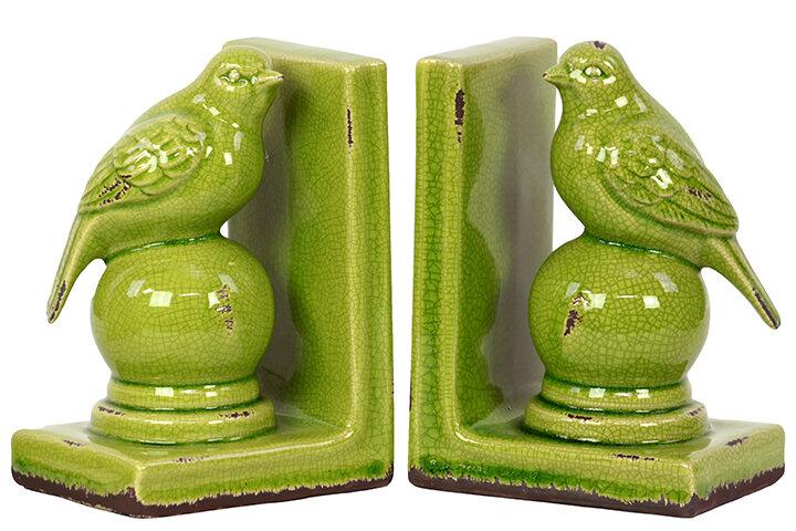 Amazing Woodland Imports Stylish Stoneware Bird Bookend U0026 Reviews | Wayfair