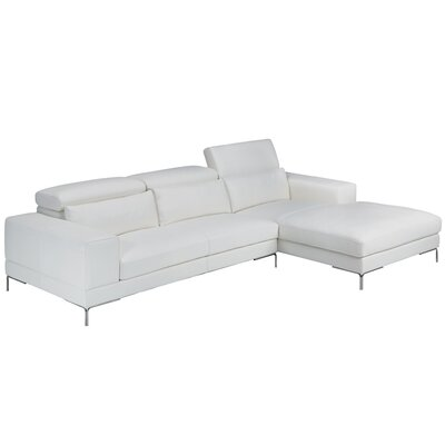 Outstanding Marlene Leather Sectional Bellini Modern Living Caraccident5 Cool Chair Designs And Ideas Caraccident5Info
