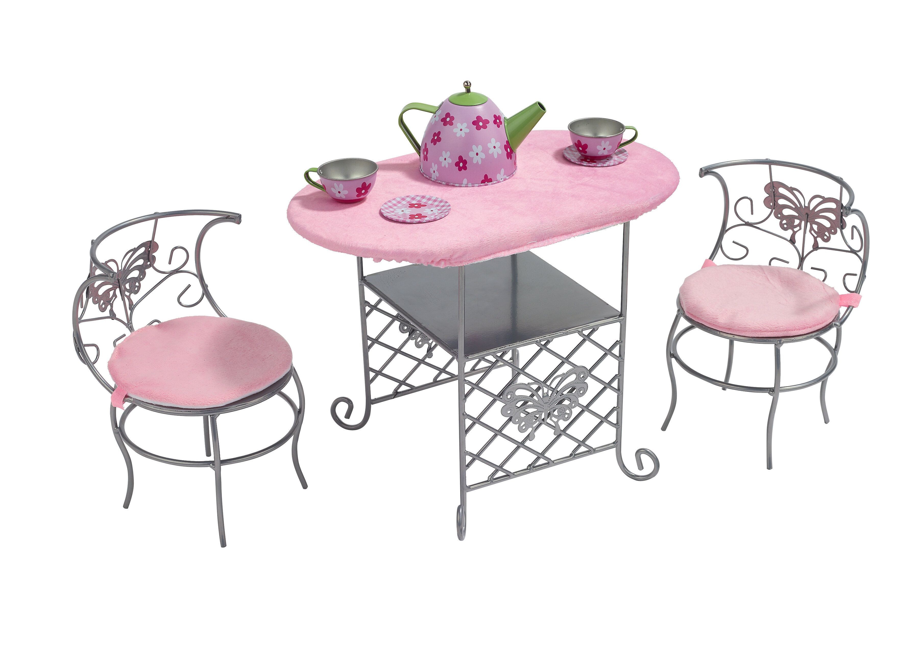 Badger Basket Tea Time Doll Table And Chair Set With Accessories Reviews Wayfair