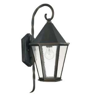 Oman 1-Light Outdoor Wall Lantern by Breakwater Bay