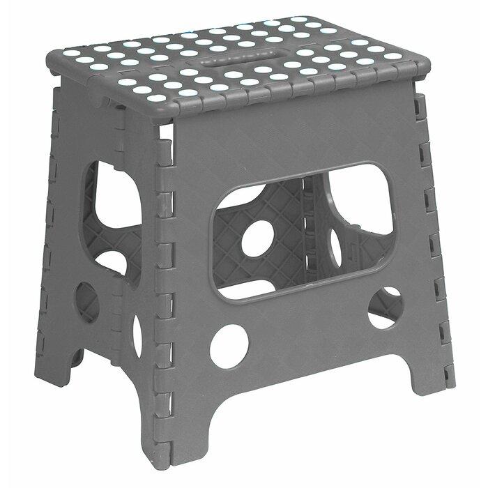 Peachy Folding Anti Slip 1 Step Plastic Step Stool Pabps2019 Chair Design Images Pabps2019Com