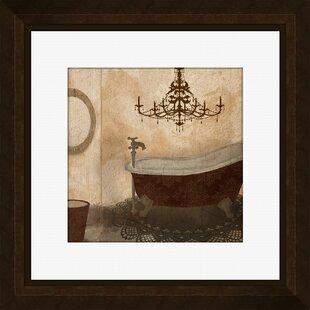Beau Red Guest Bathroom II Framed Graphic Art