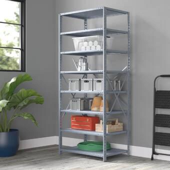 Hallowell Hi Tech Duty Open Type 7 Shelf Shelving Unit Add On Wayfair
