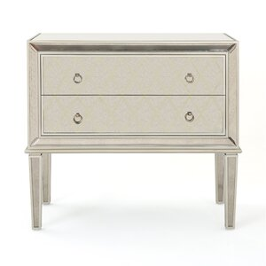 Rylee Mirrored 2 Drawer Cabinet