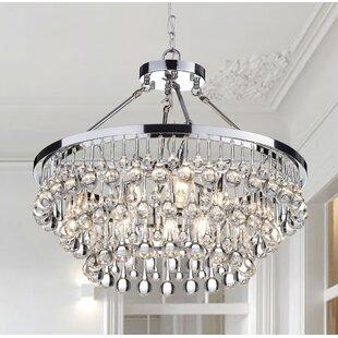 Wire chandelier wayfair mcknight 9 light crystal chandelier aloadofball Image collections
