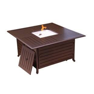 Fire Pits Aluminum Propane Fire Pit Table By Signature Rattan